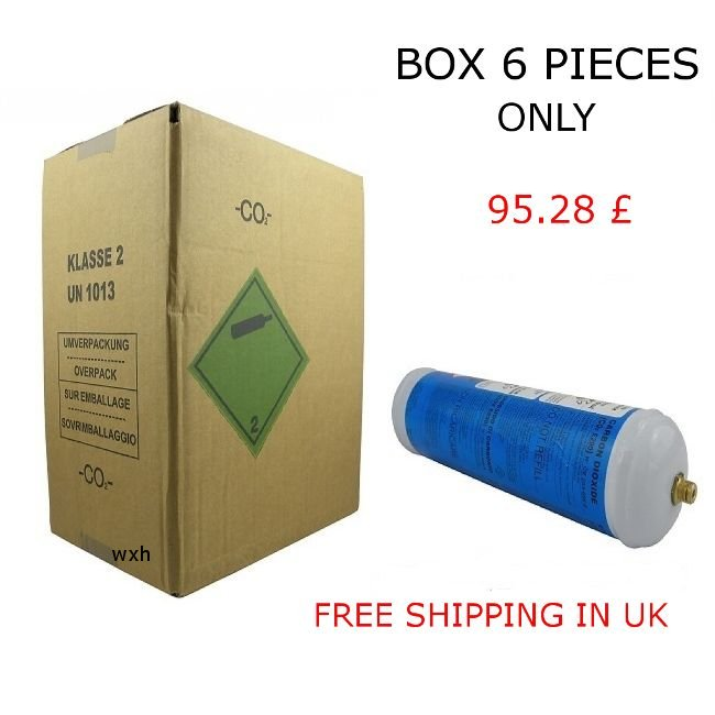 Box 6 pieces Co2 disposable bottle 600 gr Eurotre