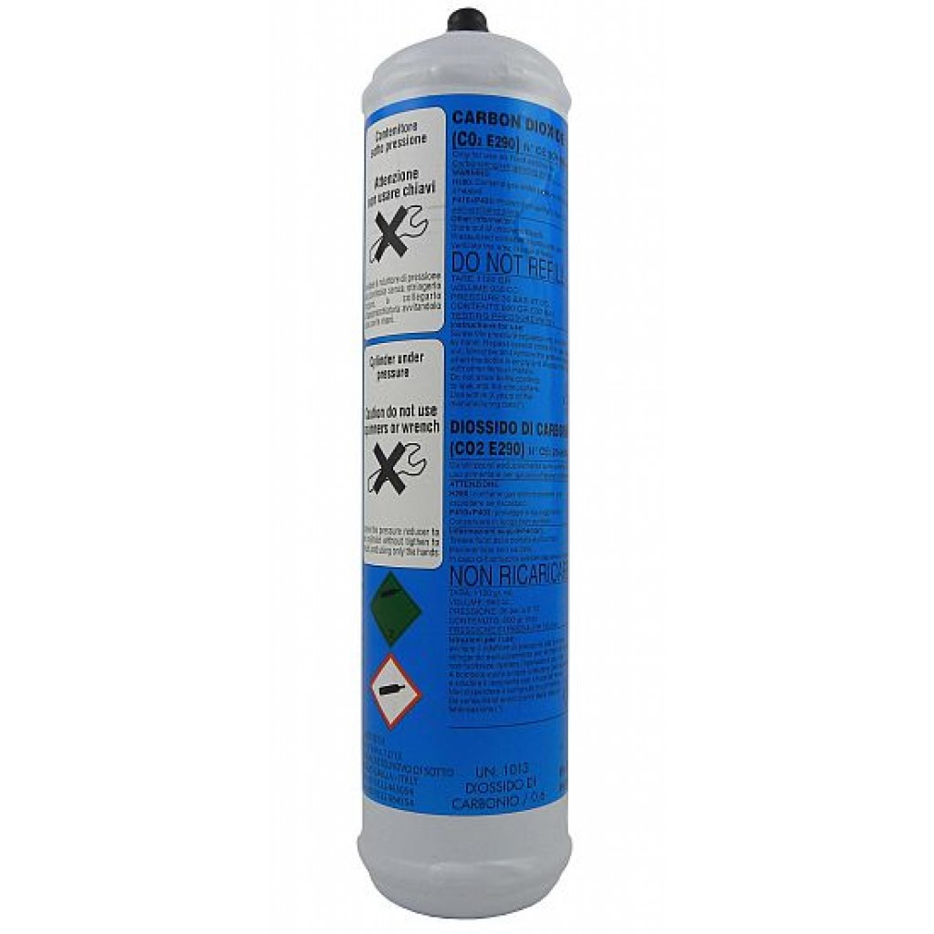 Co2 disposable bottle 600 gr Eurotre