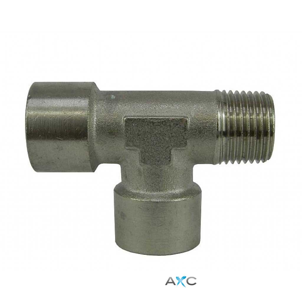 Nickel-plated brass T- connector 1/2 ""
