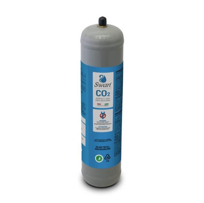 600gr Co2 disposable cylinder Swan