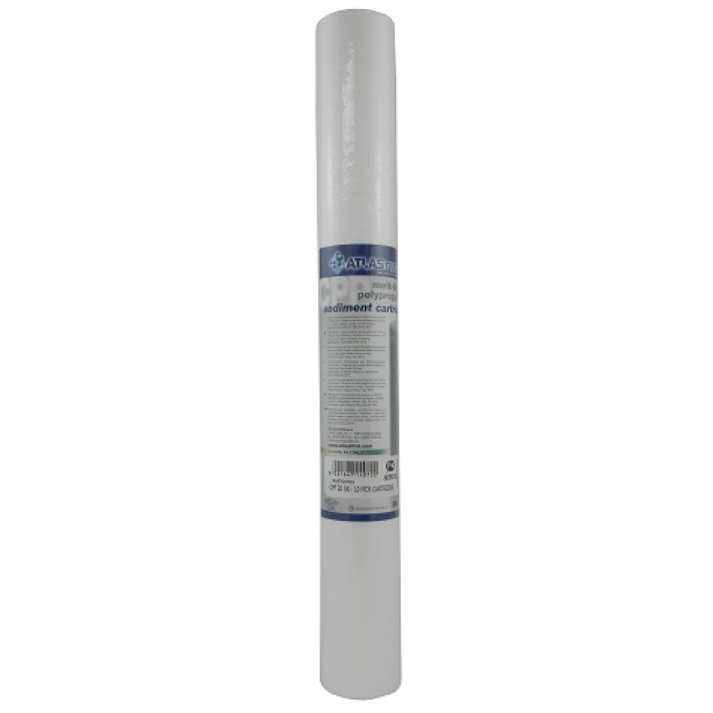 "Sediment 20"" Polypropylene 10 micron 1/4 Filter Cartridge"