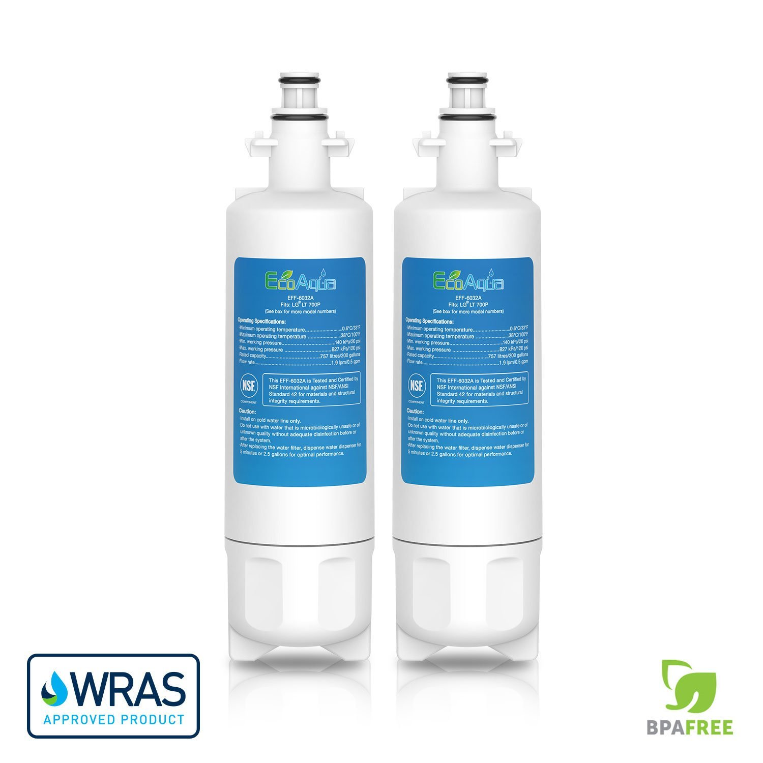 2 pack refrigerator water filter cartridge for Panasonic