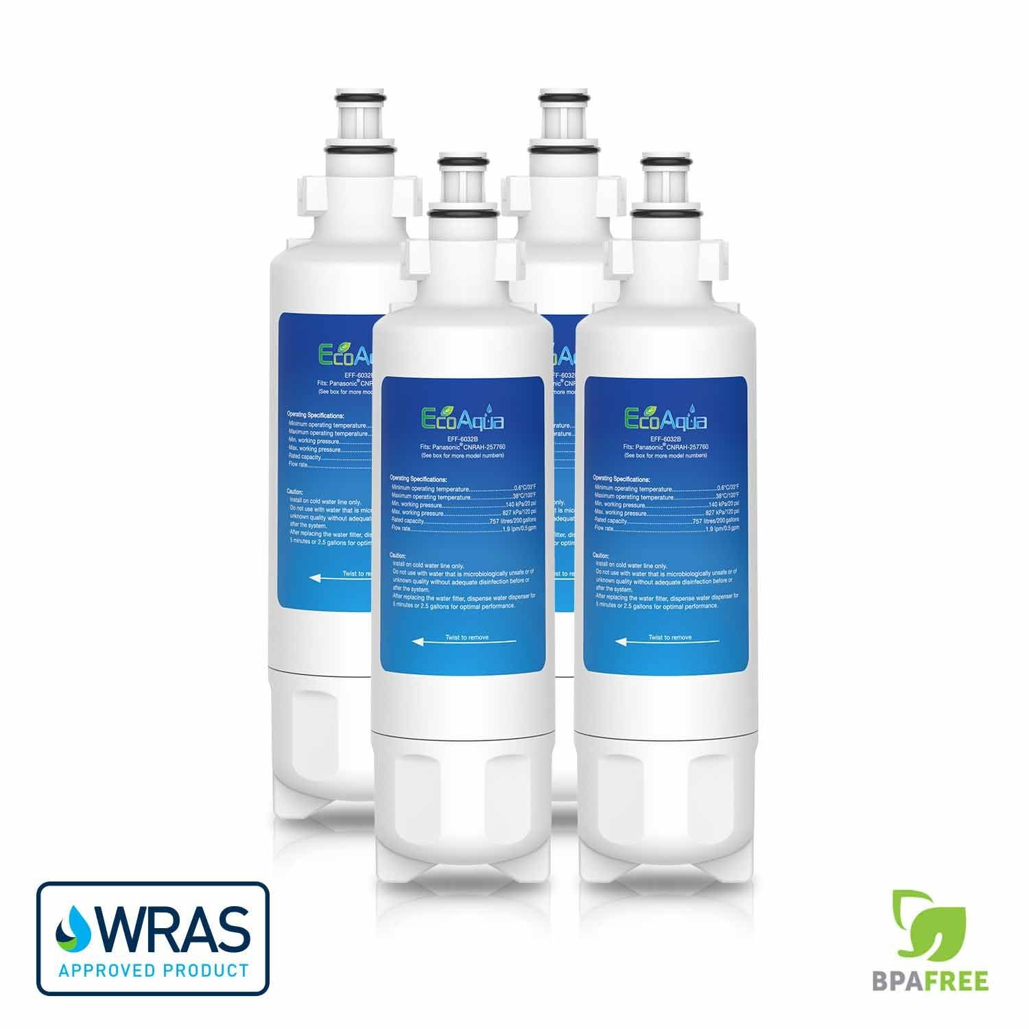 4 pack refrigerator water filter cartridge for Panasonic