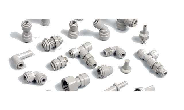 Inch size push-fit fittings